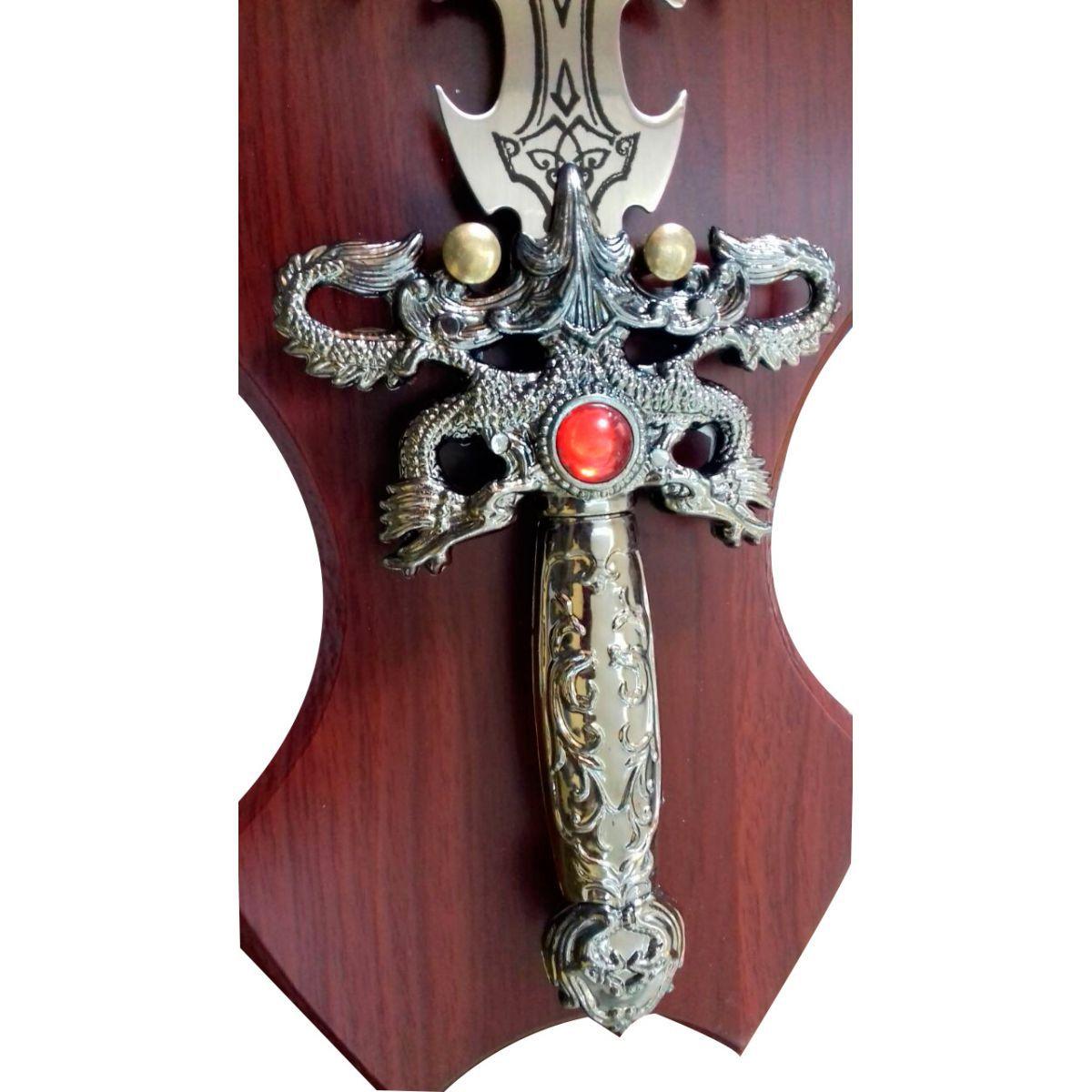 Espada Medieval Pedra do Tempo com Suporte para Parede - Frete Grátis  - Thata Esportes