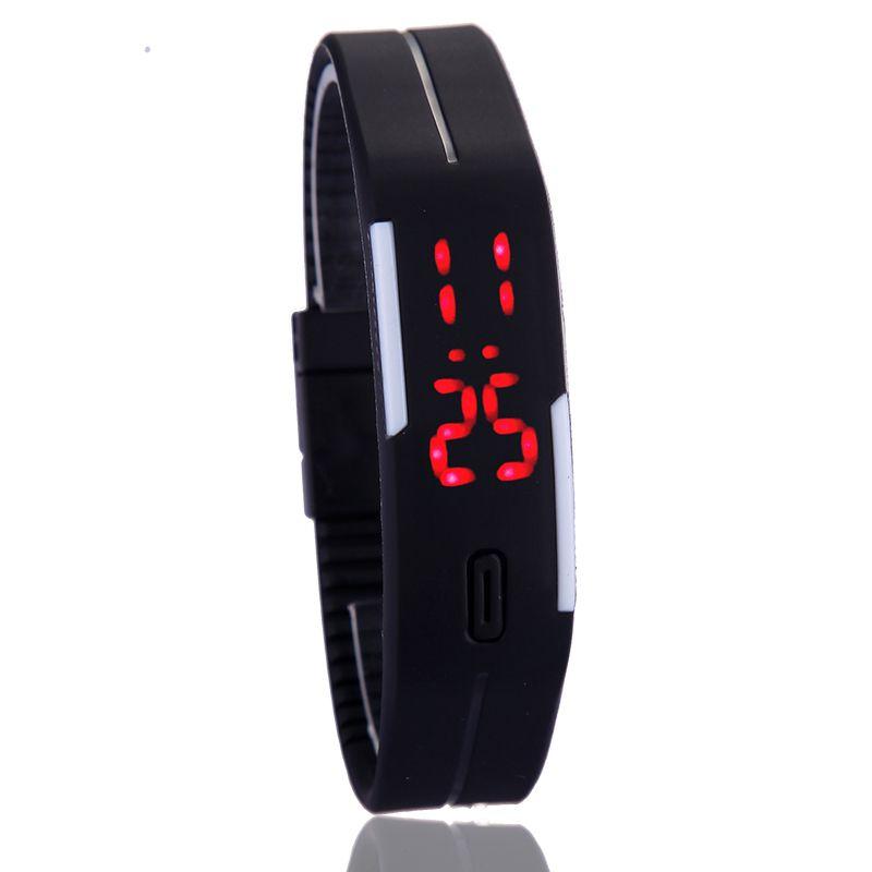 Relógio de Pulso Led Touch Screen Digital Silicone  - Thata Esportes