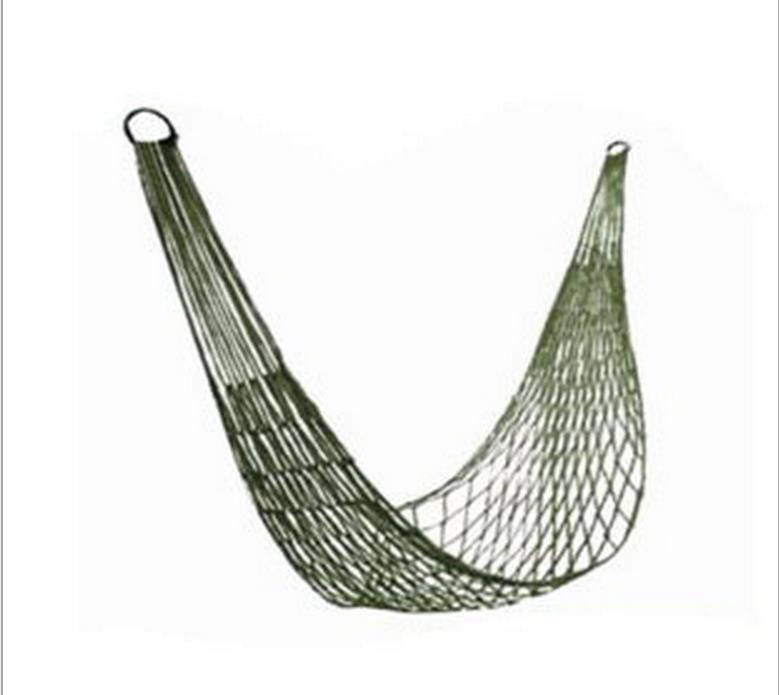 Rede de Descanso em Nylon com Cordas para Camping Acampamento  - Mundo Thata