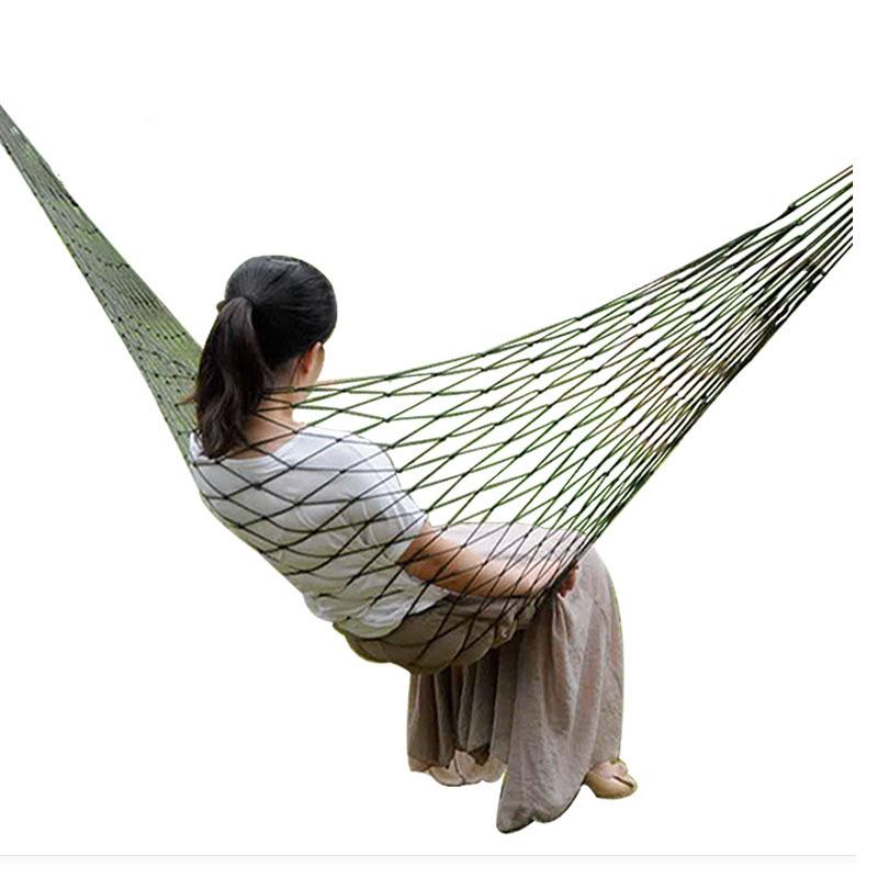 Rede de Descanso em Nylon com Cordas para Camping Acampamento  - Thata Esportes