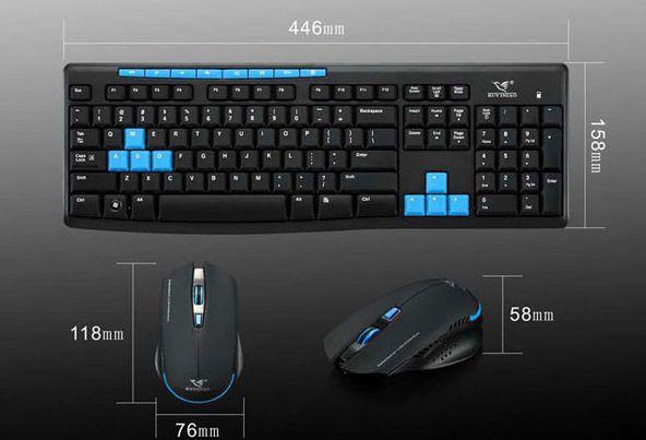 Kit Teclado Sem Fio Multimidia USB e Mouse Sem Fio   - Thata Esportes
