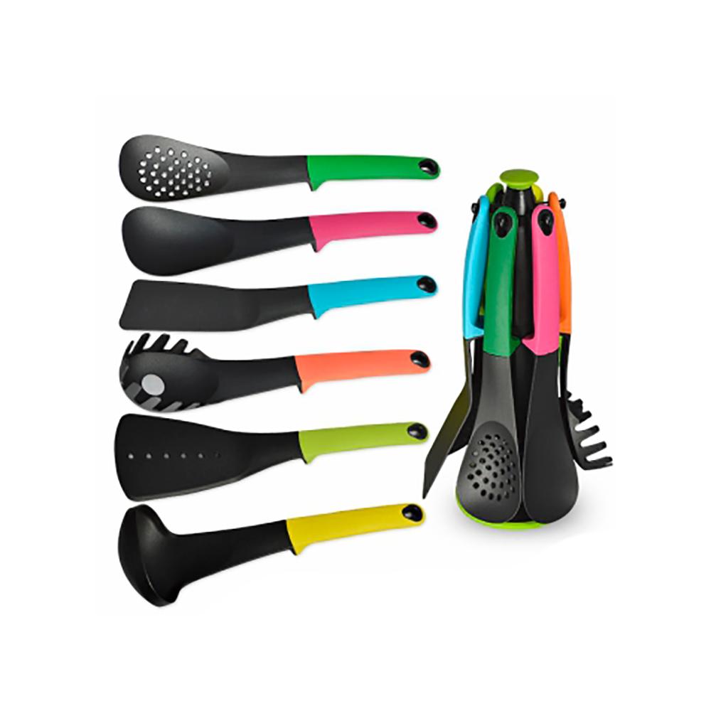 Kit 6 Utensílios Plásticos para Cozinha Expositor  - Thata Esportes