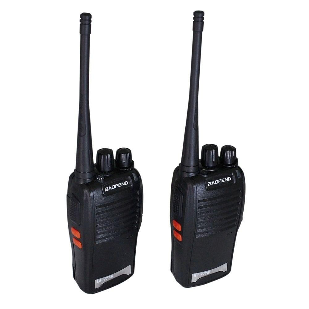 Kit 2 Rádios Comunicador UHF/VHF Walk Talk  - Mundo Thata
