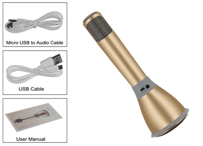 Karaokê Portátil Bluetooth Microfone Bateria para Celular  - Thata Esportes
