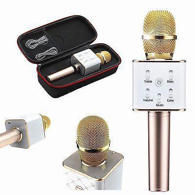 Karaokê Portátil Bluetooth Microfone Bateria para Celular Gravador  - Mundo Thata