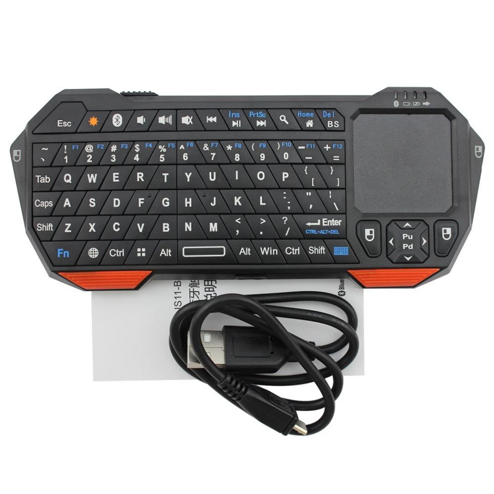 Mini Teclado Bluetooth com TouchPad  - Thata Esportes