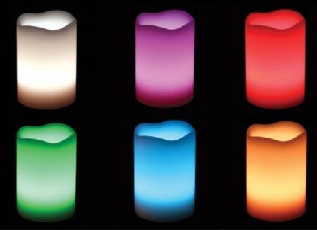 Kit 3 Velas LED Multi Color Controle Remoto  - Thata Esportes