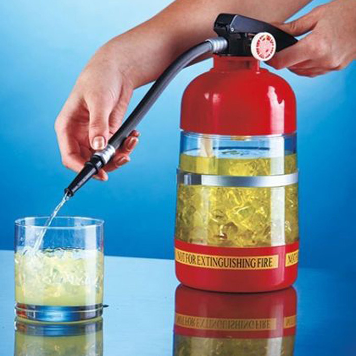 Garrafa Dispenser de Bebida em Formato de Extintor  - Thata Esportes