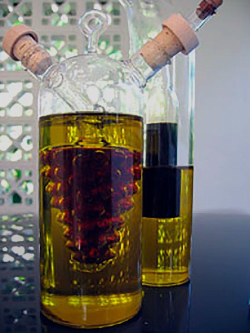 Garrafa 2 em 1 Porta Óleo e Vinagre Galheteiro Luxo- 300Ml   - Mundo Thata