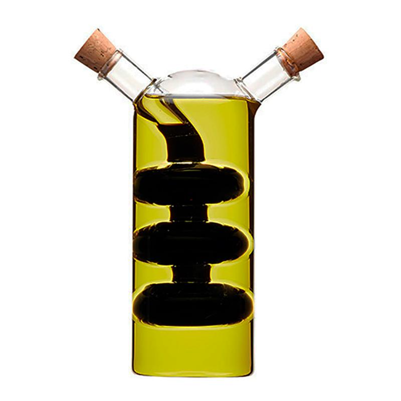 Garrafa 2 em 1 Porta Óleo e Vinagre Galheteiro Luxo- 300Ml   - Thata Esportes