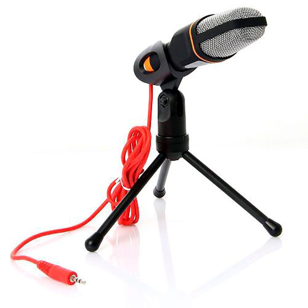 Microfone de Mesa Condensador Mic com Tripé SF-402  - Thata Esportes
