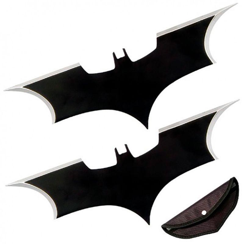 Kit 2 Facas Shuriken Arremesso Bumerangue Batman Aço Afiada  - Mundo Thata
