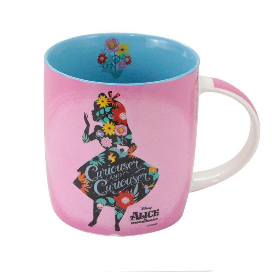 Caneca Alice no País das Maravilhas - Floral  - Thata Esportes