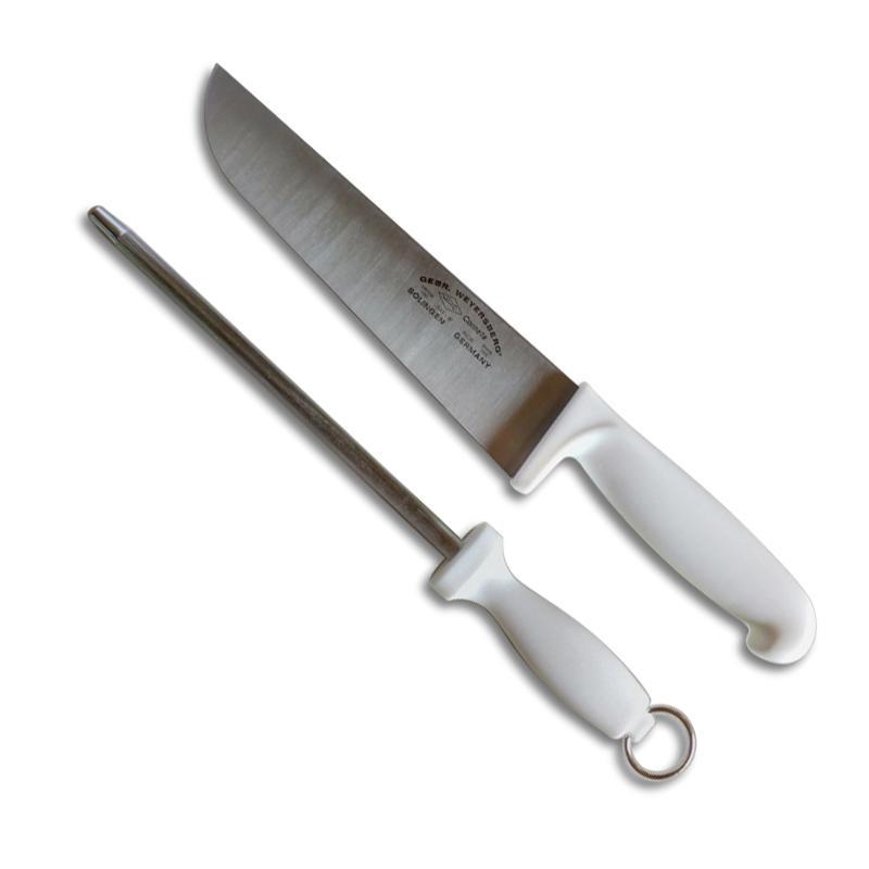 Kit Faca para Carne 8 Polegadas e Chaira Solingen Germany  - Thata Esportes