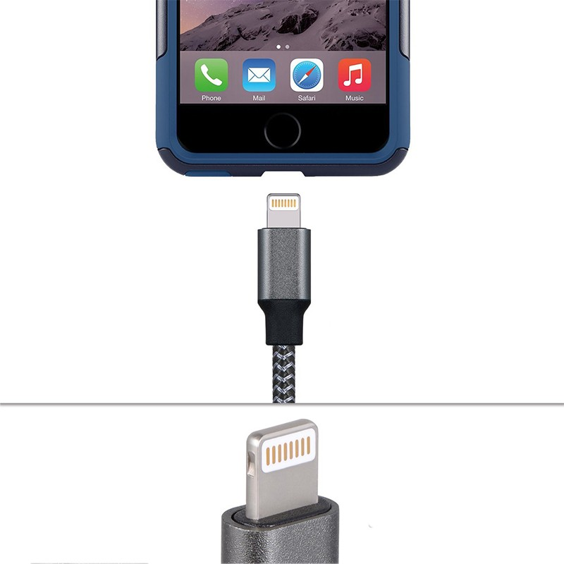 Cabo Carregador Iphone Apple Lightning 1 Metro  - Thata Esportes