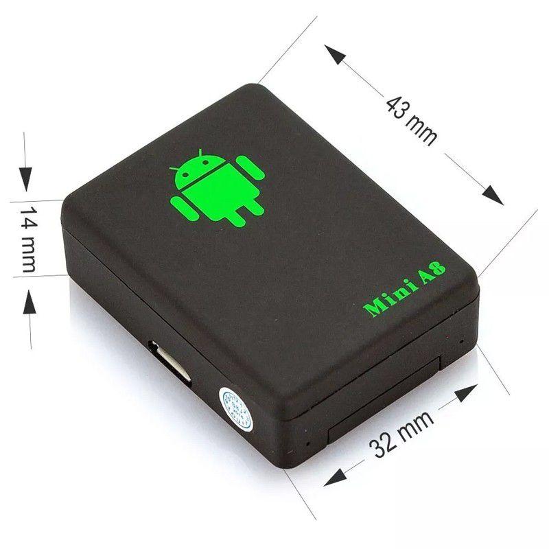 Localizador Mini A8 Pessoas Veículos Animais GPS Localizador Escuta Espiã Botão SOS  - Mundo Thata