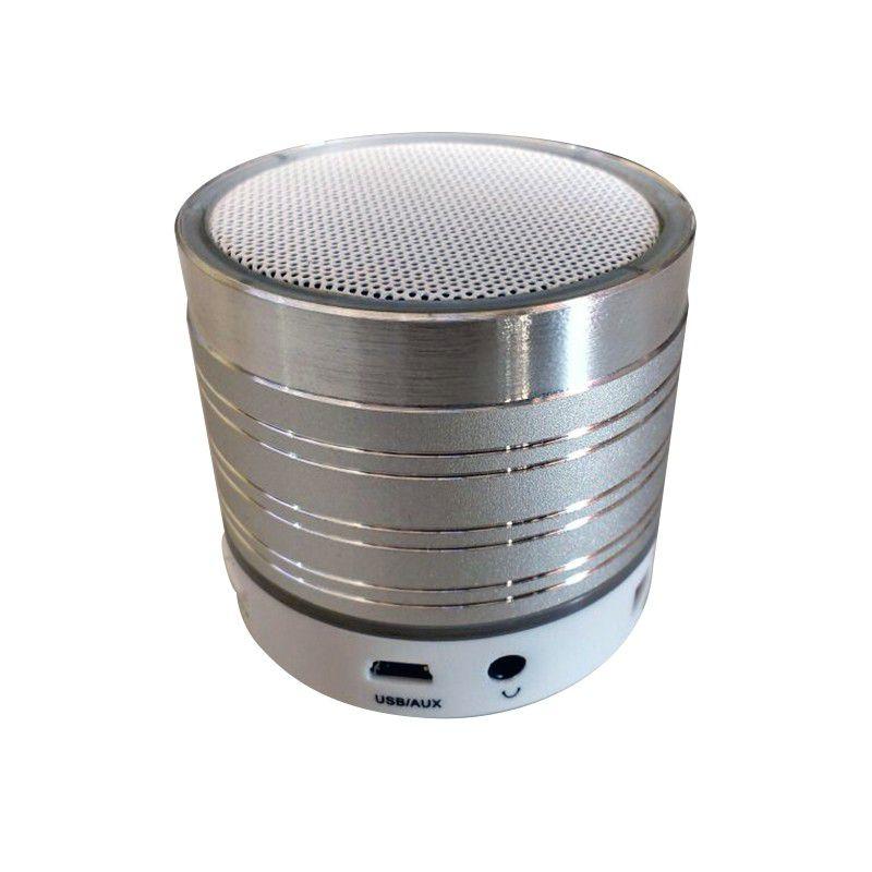 Mini Caixa Som Metálica Bluetooth LED FM Micro SD  - Thata Esportes