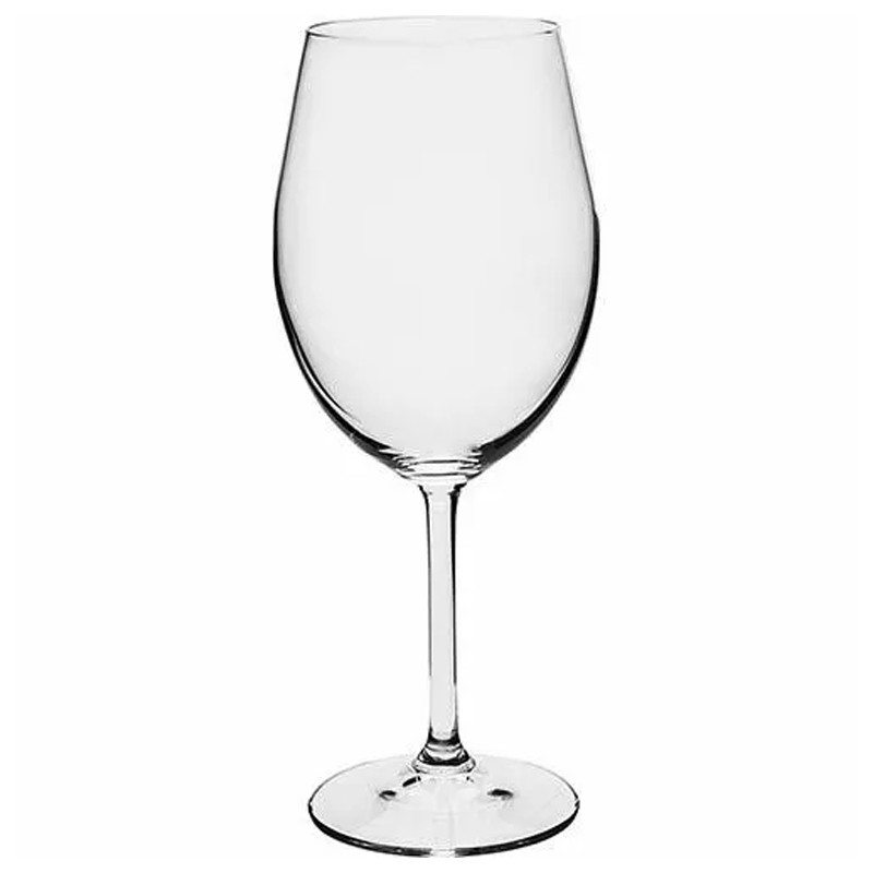 Conjunto 6 Taças Cristal Titânio 450ml Gastro Copo Vinho Bohemia  - Thata Esportes