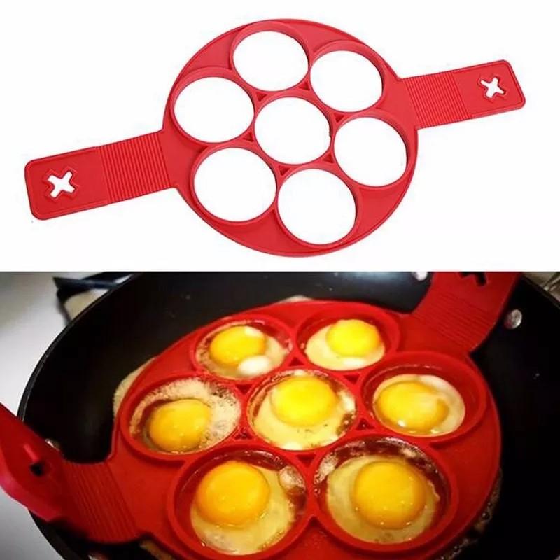 Forma de Silicone Para Panquecas Ovos Antiaderente  - Thata Esportes