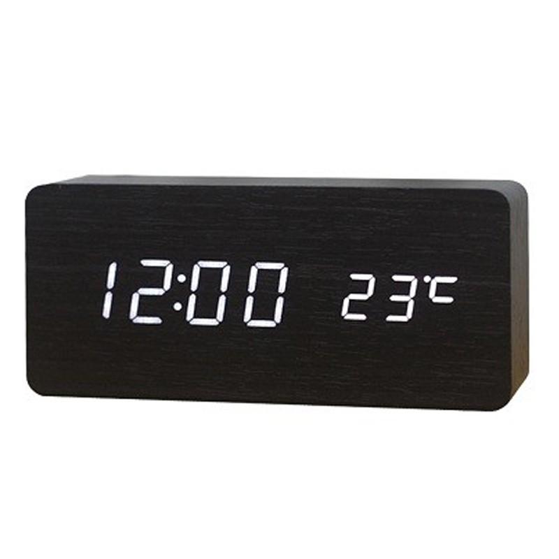 Relógio Despertador Termômetro LED Acionado por Som ou Palmas  - Thata Esportes