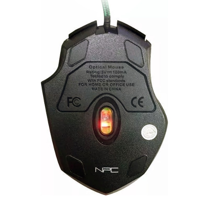 Mouse Gamer NPC 815G 6 Botões USB LED 2400 DPI  - Thata Esportes