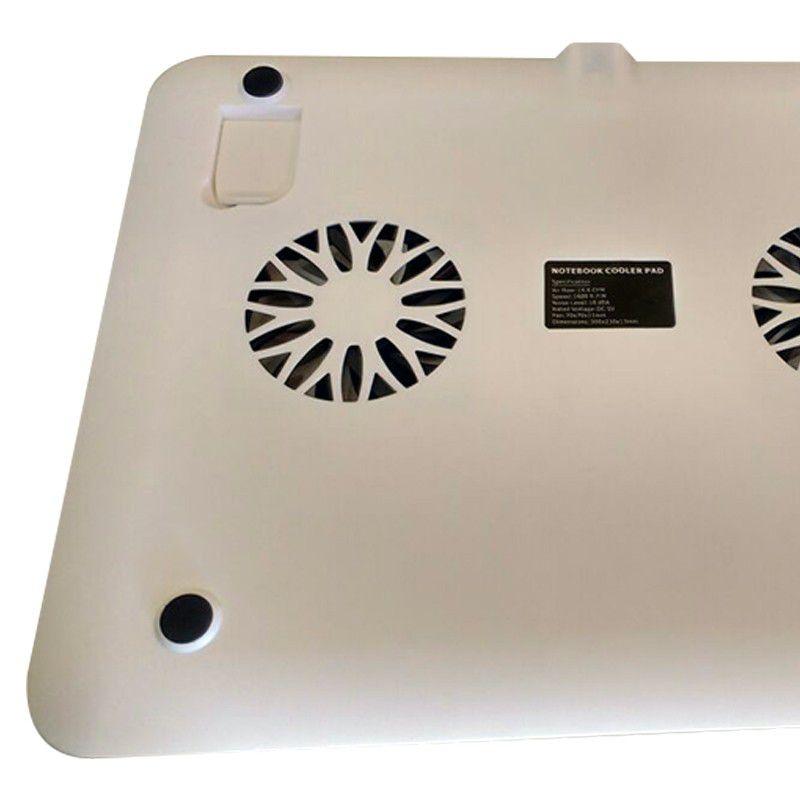 Suporte Apoio com Cooler Pad USB para Laptop Notebook  - Mundo Thata