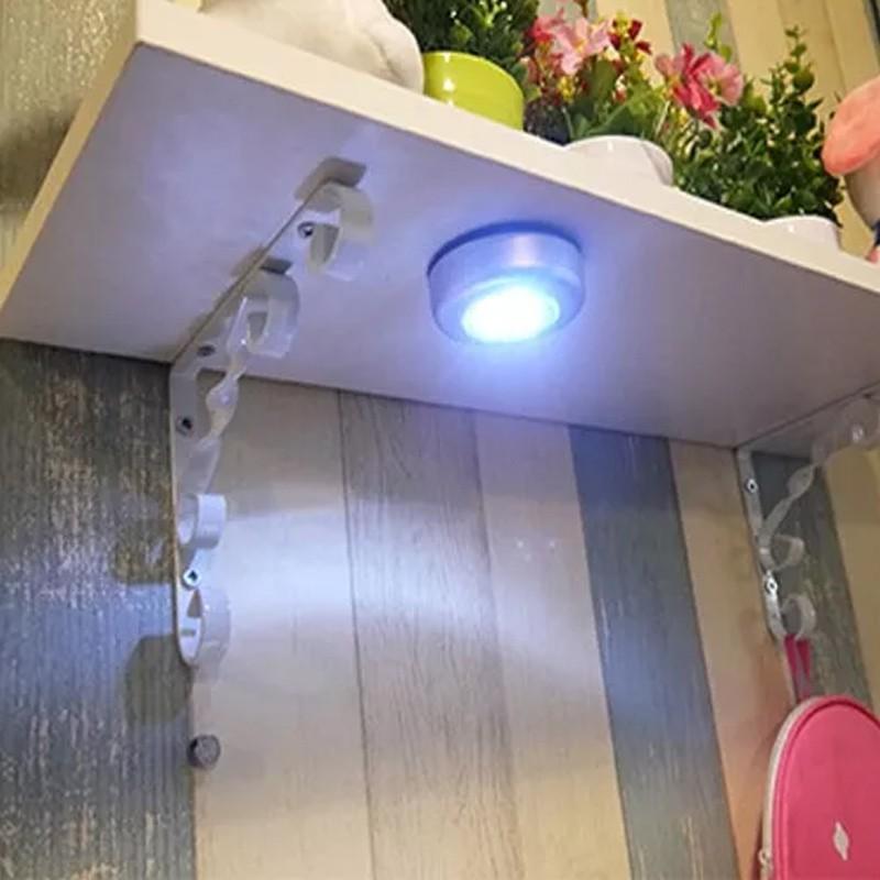Luminária de Toque Redonda Prata 3W LED  - Thata Esportes