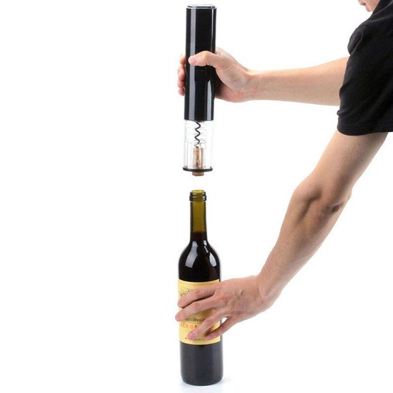 Abridor de Vinho Champanhe Espumante Bebida à Pilha Automático Saca Rolhas Cortador de Lacre  - Thata Esportes