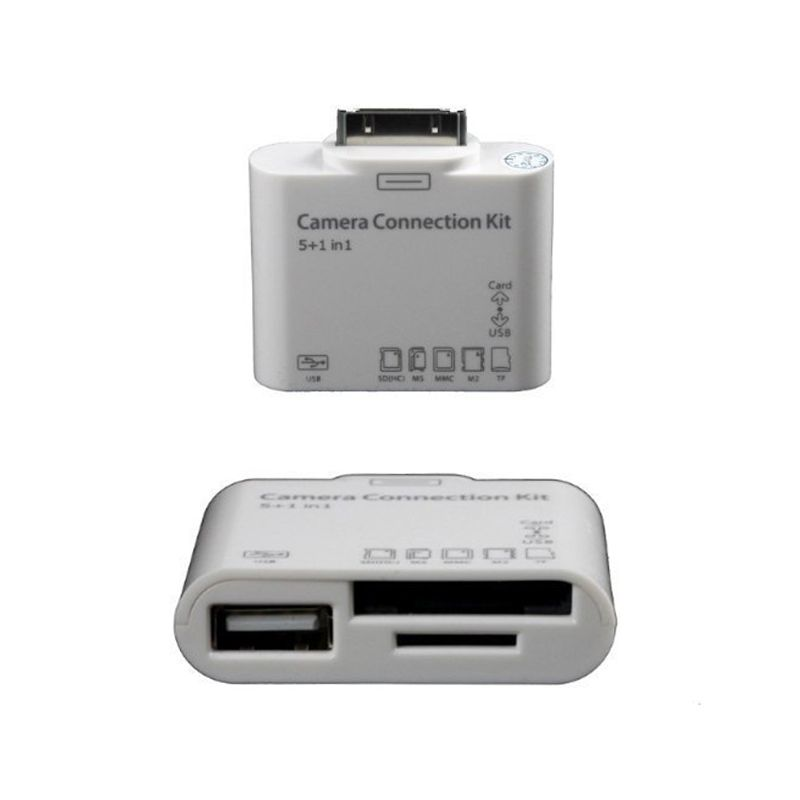 Adaptador USB Dock Conector iPad iPhone iPod - Thata Esportes