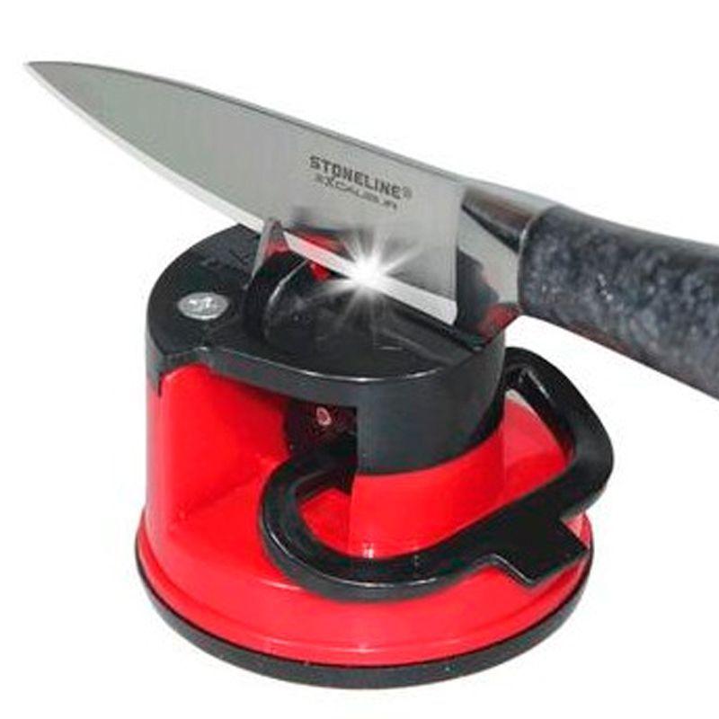 Afiador Amolador de Facas para Tesoura Canivete Facão com Ventosa  - Thata Esportes