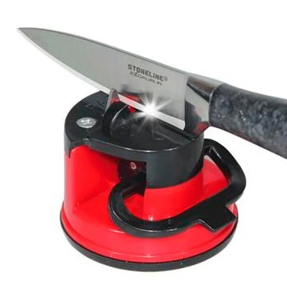 Afiador Amolador de Facas para Tesoura Canivete Facão com Ventosa  - Mundo Thata