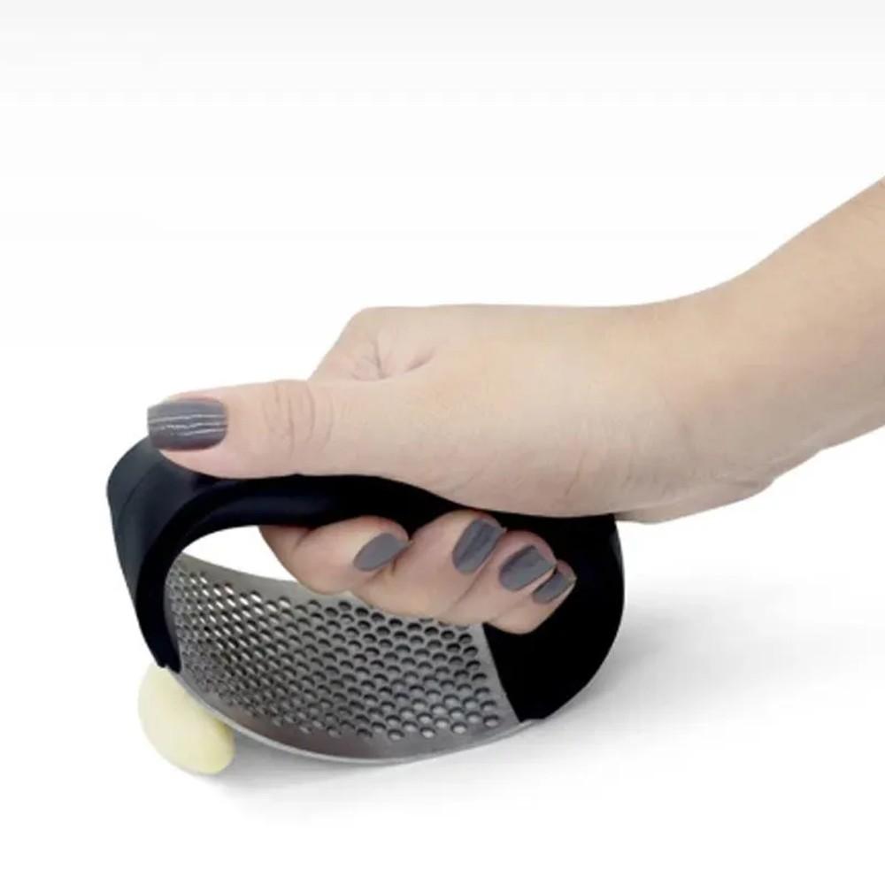 Amassador Triturador Espremedor de Alho Inox Manual Cozinha  - Mundo Thata