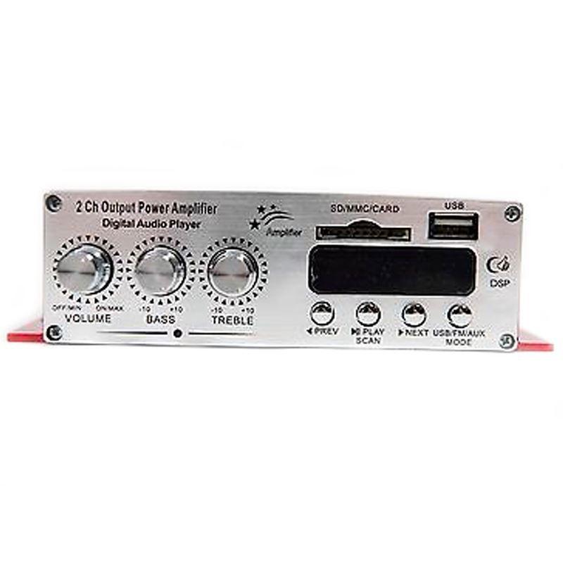 Amplificador Kinter MA120 2CH 2 Canais Início Car HIFI Potência de Áudio MP3 com Controle Remoto USB SD MMC DVD  - Mundo Thata