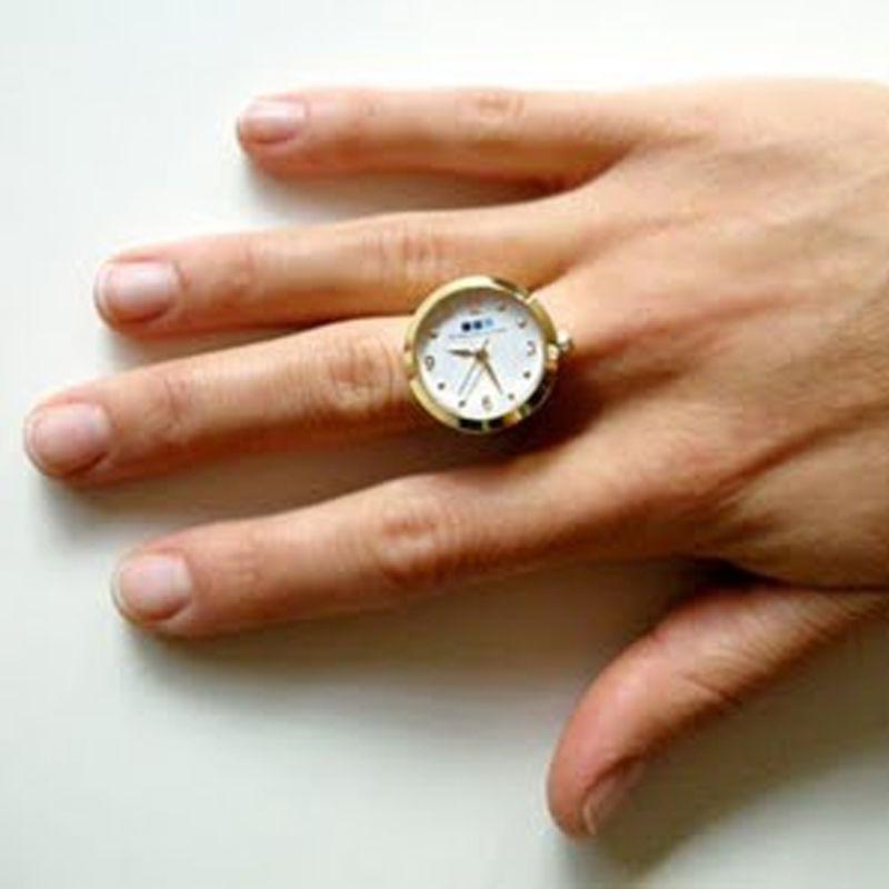 Anel Relógio de Dedo Feminino Regulável  - Thata Esportes