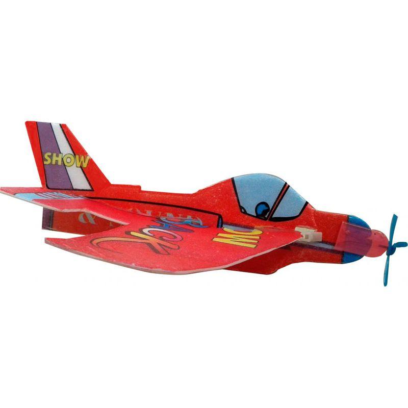 Avião Voador de Isopor Kit com 10 unidades   - Thata Esportes