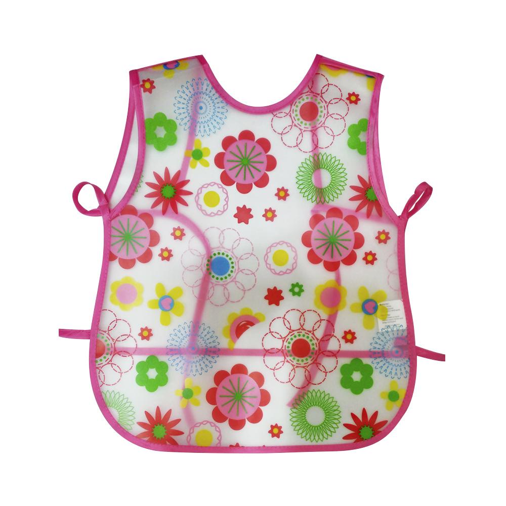 Babador Avental Impermeável com Cata Migalhas para Bebê Infantil Desenho de Flores  - Mundo Thata