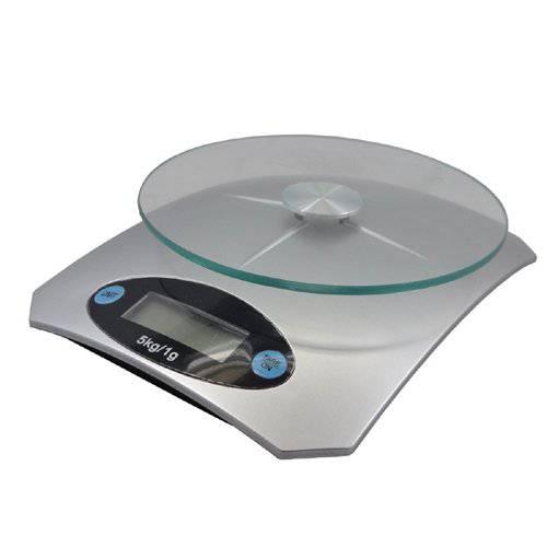Balança Digital Cozinha Até 5 kg Alta Precisão Plataforma Vidro  - Thata Esportes