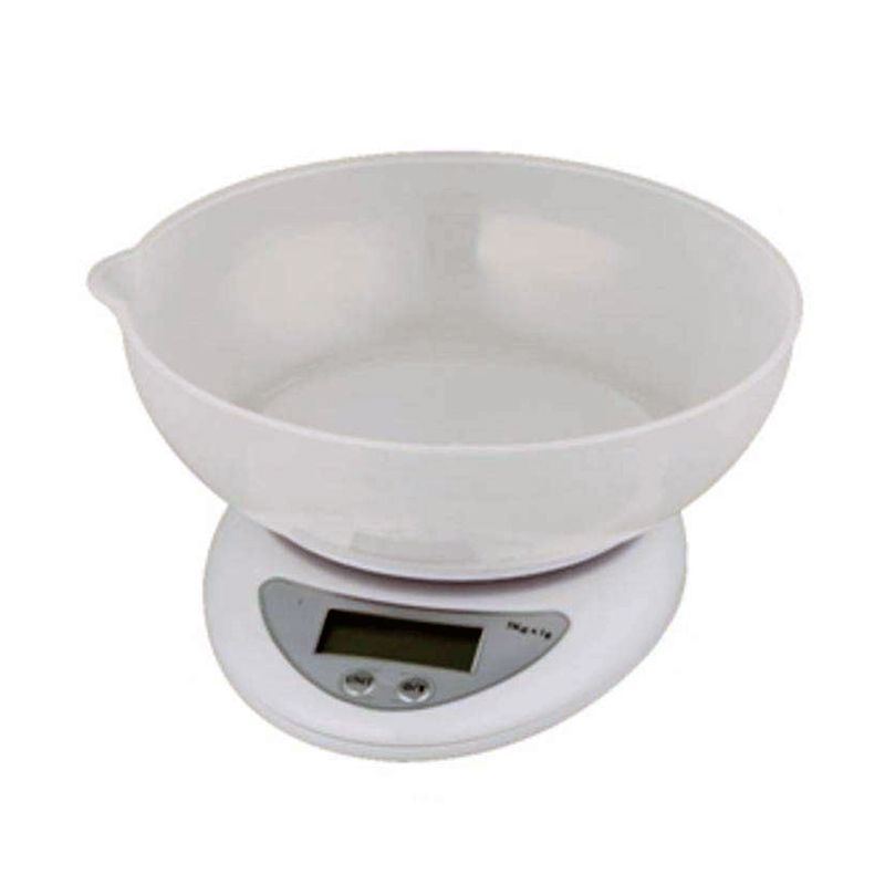 Balança Digital Cozinha Até 5 kg Alta Precisão Plataforma Tigela  - Mundo Thata