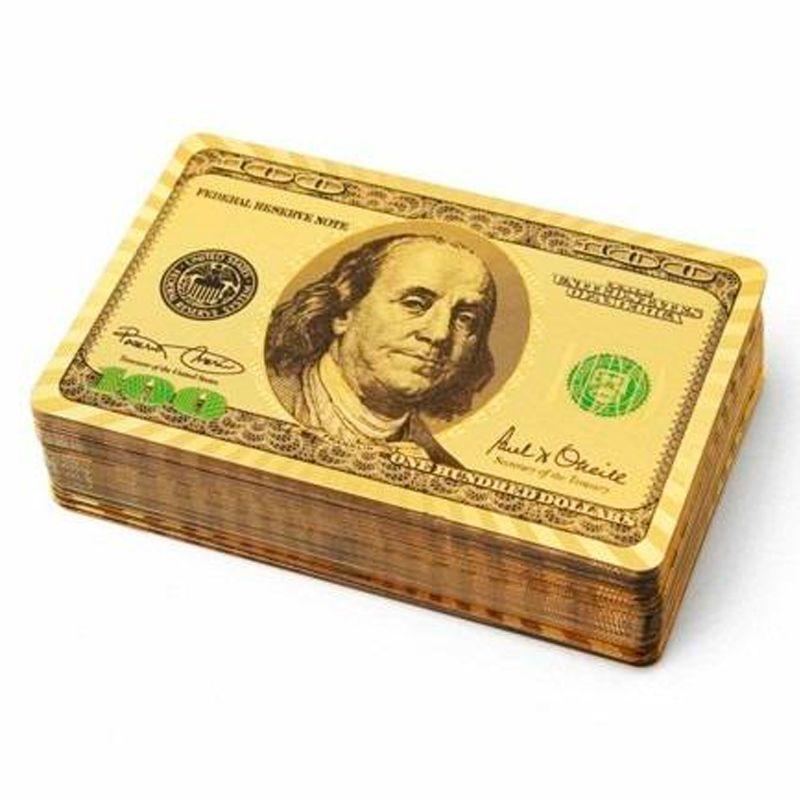 Baralho Dourado Ouro 24k Prova de Água Poker Truco Cartas Jogos  - Thata Esportes