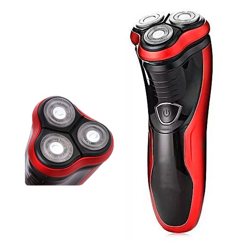 Barbeador 3 Cabeças Rotatórias Recarregável Shaver Lâmina Dupla Bivolt  - Mundo Thata