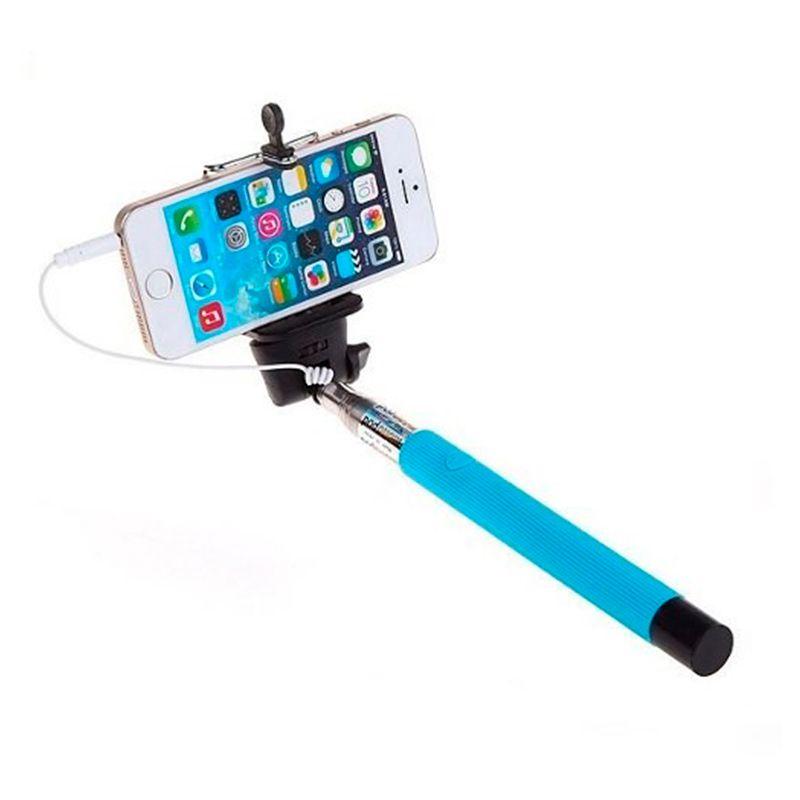 Bastão Monopod Pau de Selfie Disparador via cabo P2 para Android e iPhone  - Thata Esportes