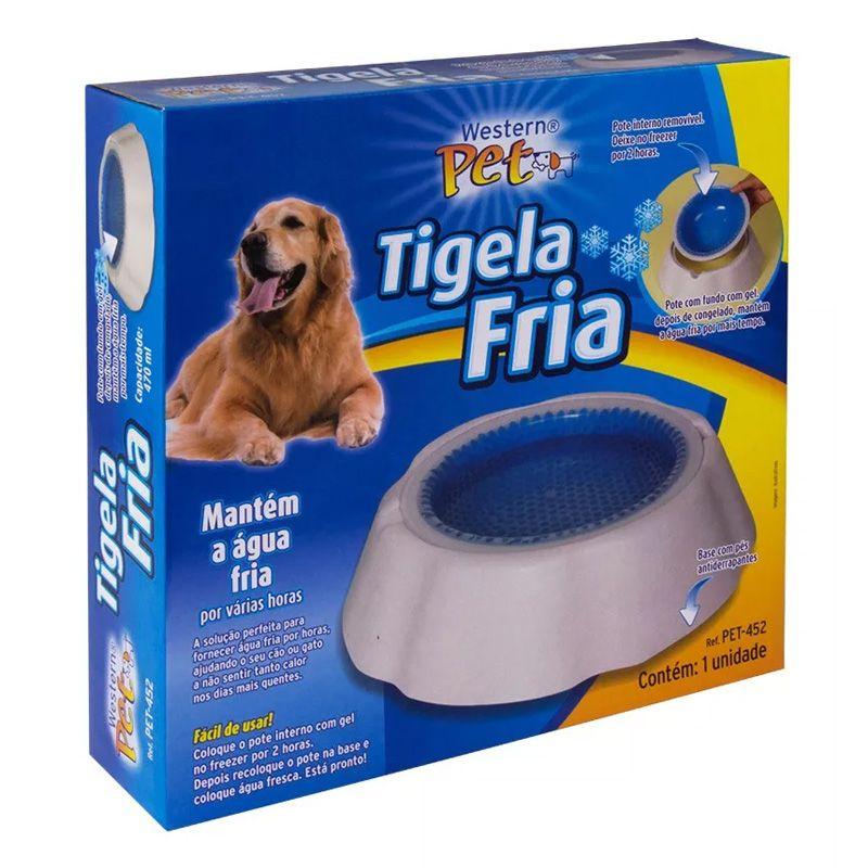 Bebedouro Tigela Gelada Western Pet Cães E Gatos  - Mundo Thata
