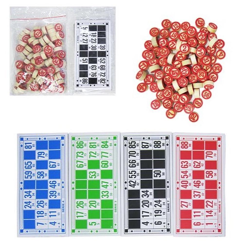 Bingo Lotto Tombola Cartelas 90 Números de Madeira  - Mundo Thata