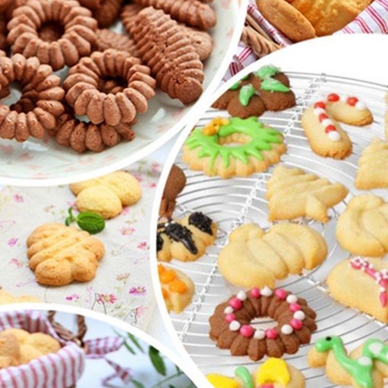 Biscoiteira Máquina de Biscoitos Decorados 10 Moldes  - Thata Esportes