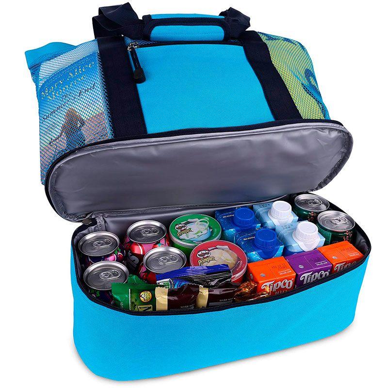 Bolsa Mesh Compartimento Térmico para Praia Piscina Campo Piquenique 2  - Mundo Thata