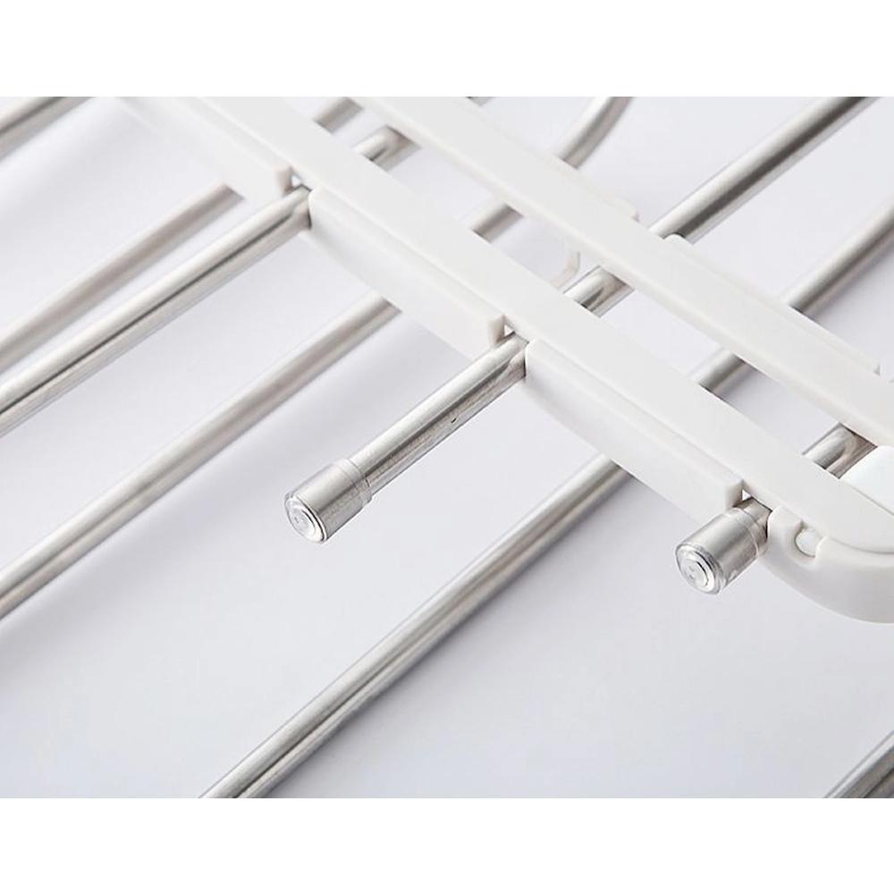 Cabideiro Mágico Organizador Horizontal ou Vertical Multifuncional Cabide Dobrável de Aço Inox 5 em 1  - Mundo Thata