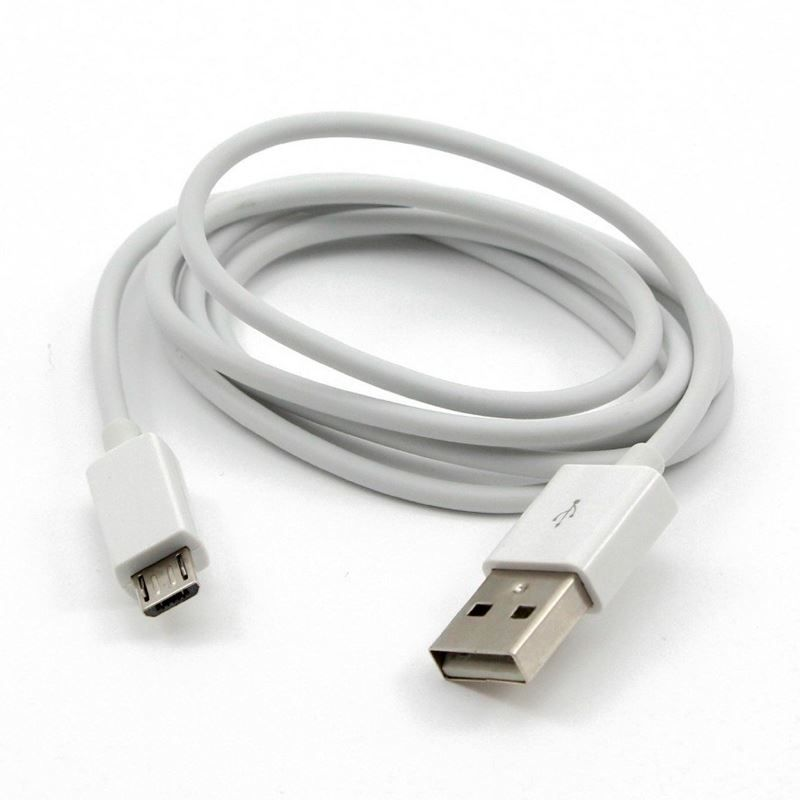 Cabo USB V8 5 Metros Branco para Smartphones Android  - Thata Esportes