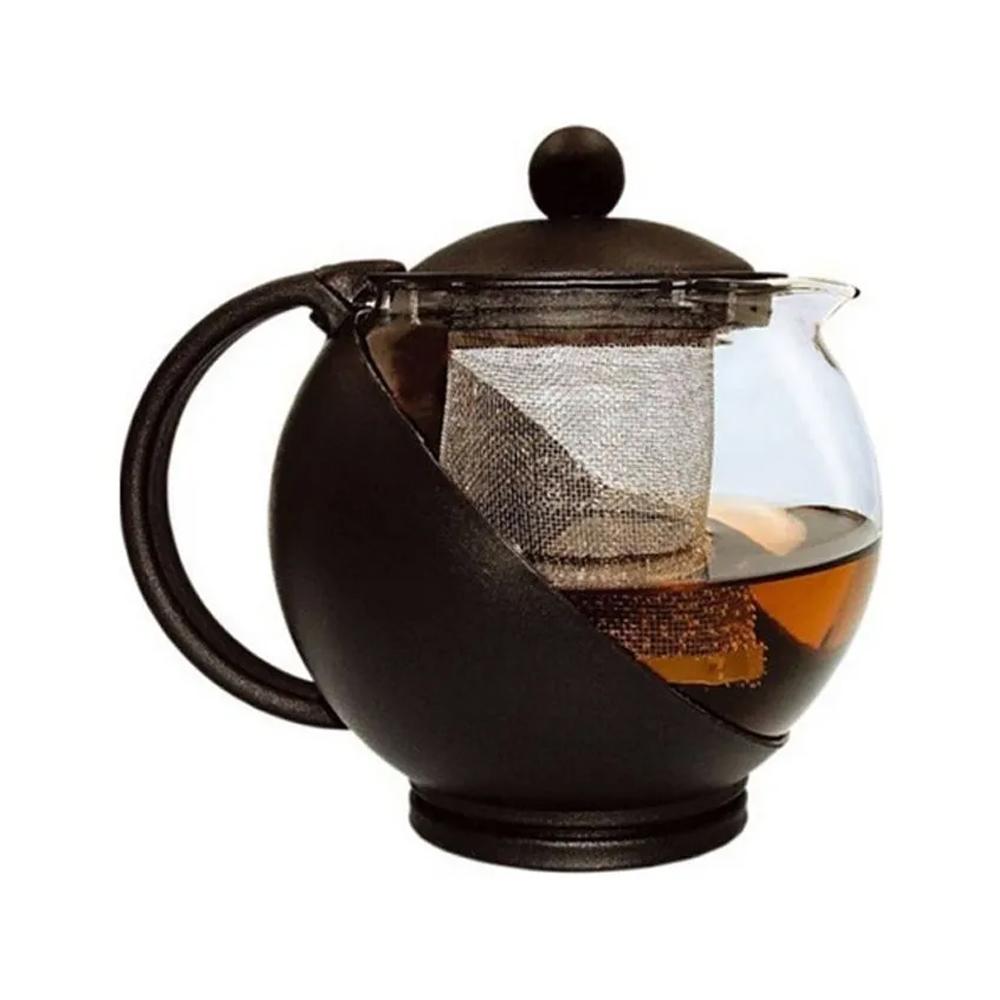 Cafeteira Chaleira Infusão Multifuncional Vidro Café Chá Inox 1.250 ml  - Mundo Thata