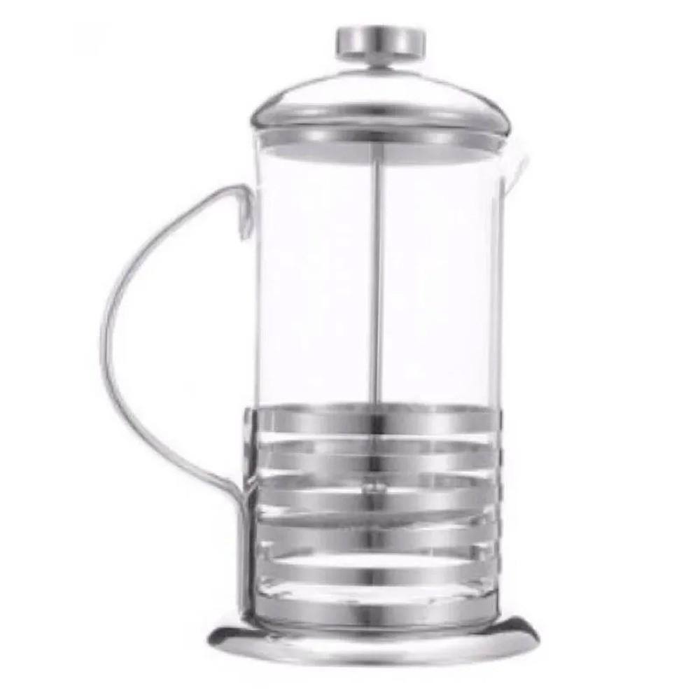 Cafeteira Francesa 350 ml Prensa Vidro Inox  - Mundo Thata