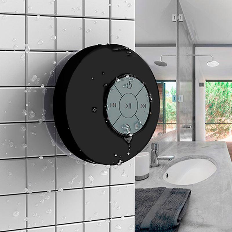 Caixa de Som Bluetooth à Prova de Água Preta  - Thata Esportes